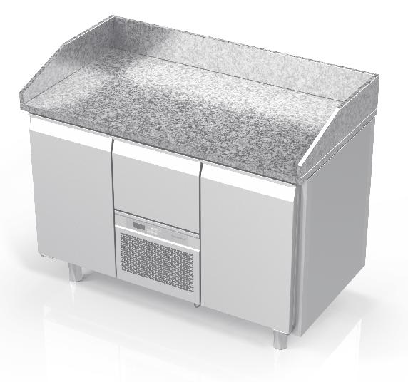 NOVAMETA šaldomas picų stalas su granito paviršiumi FM0-N202