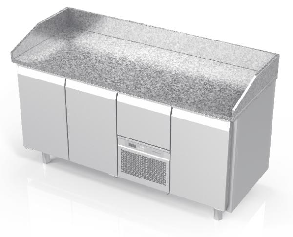 NOVAMETA šaldomas picų stalas su granito paviršiumi FM0-E303