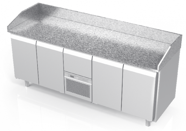 NOVAMETA šaldomas picų stalas su granito paviršiumi FM0-E404