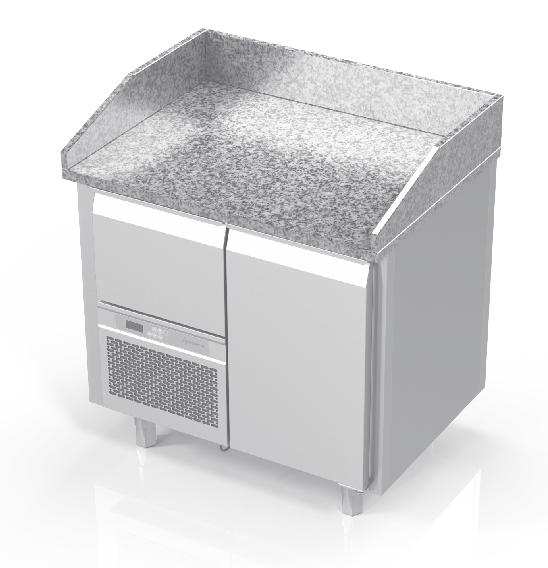 NOVAMETA šaldomas picų stalas su granito paviršiumi FM0-N101